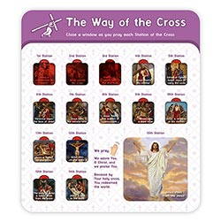 Stations of the Cross Windows chart
