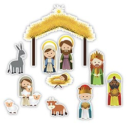 Jumbo Nativity Magnet Set