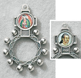 Guadalupe St.  Juan Diego Single Decade Rosary Ring