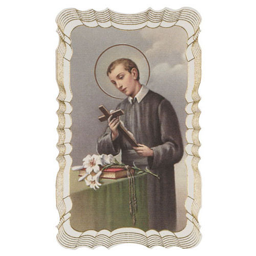 St Gerard Majella Gold Embossed Holy Card