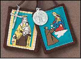Brown Scapular with medals