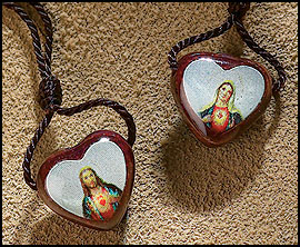 Heart shaped 24-hour wear ever scapular
