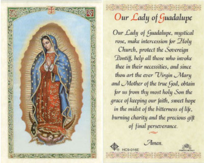 Our Lady of Guadalupe (Full Image) laminated holy card