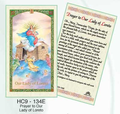 Virgin of Loreto Laminated Holy Card