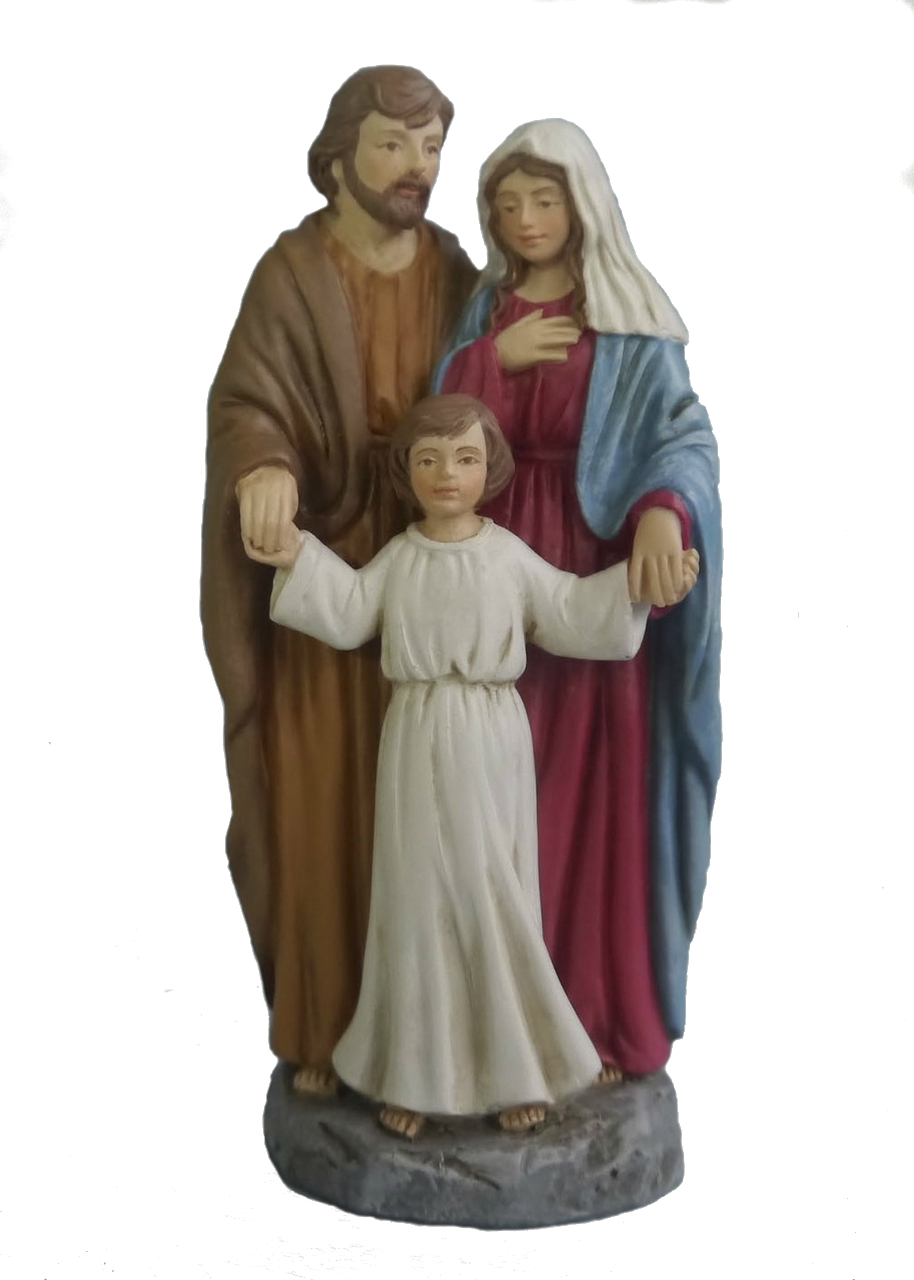 The Holy Family 4 Inch Color Resin Statue