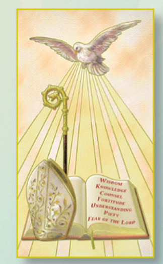 Confirmation, laminated holy card