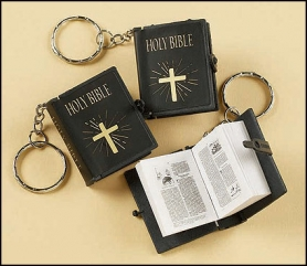 Tiny Bible Keychains