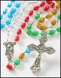 Colorful molded Mission Rosary