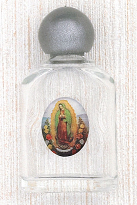 Our Lady of Guadalupe Glass Holy Water Bottles