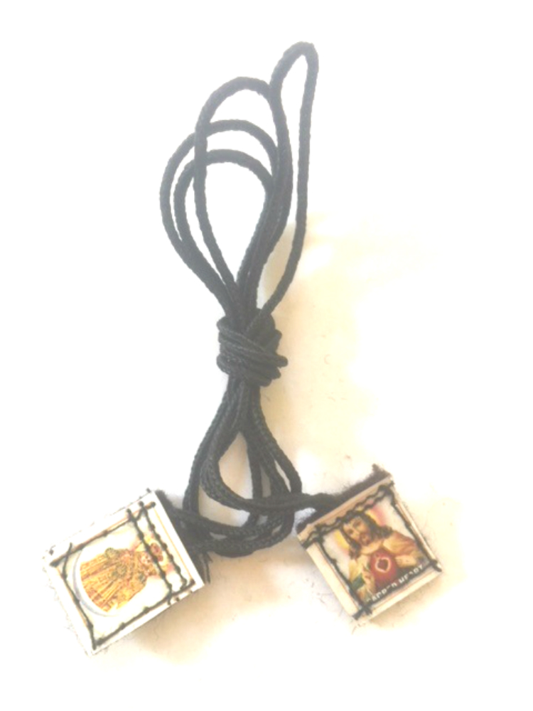 Tiny Colored Brown Scapular