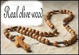 New Olive Wood Rosary from Holy Land