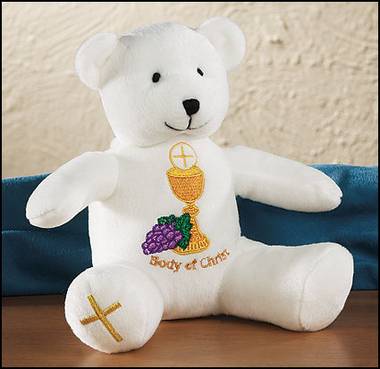First Communion Plush Bear