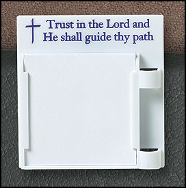 Trust in the Lord... Visor Clip Note Holder