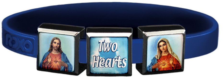 Two Hearts Charm Wristbands