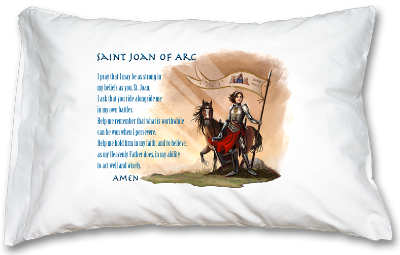 St. Joan of Arc Prayer Pillowcase