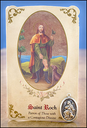 St. Roch Healing card and Medal