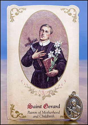 St. Gerard healing medal and card