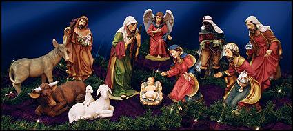 new product d04d6 9bbf0 Large Full 9 Piece Nativity Set