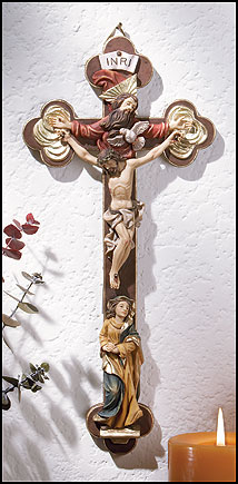 Mary with Apostles Wall Crucifix