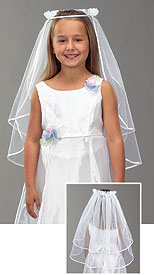 Satin First Communion Veil