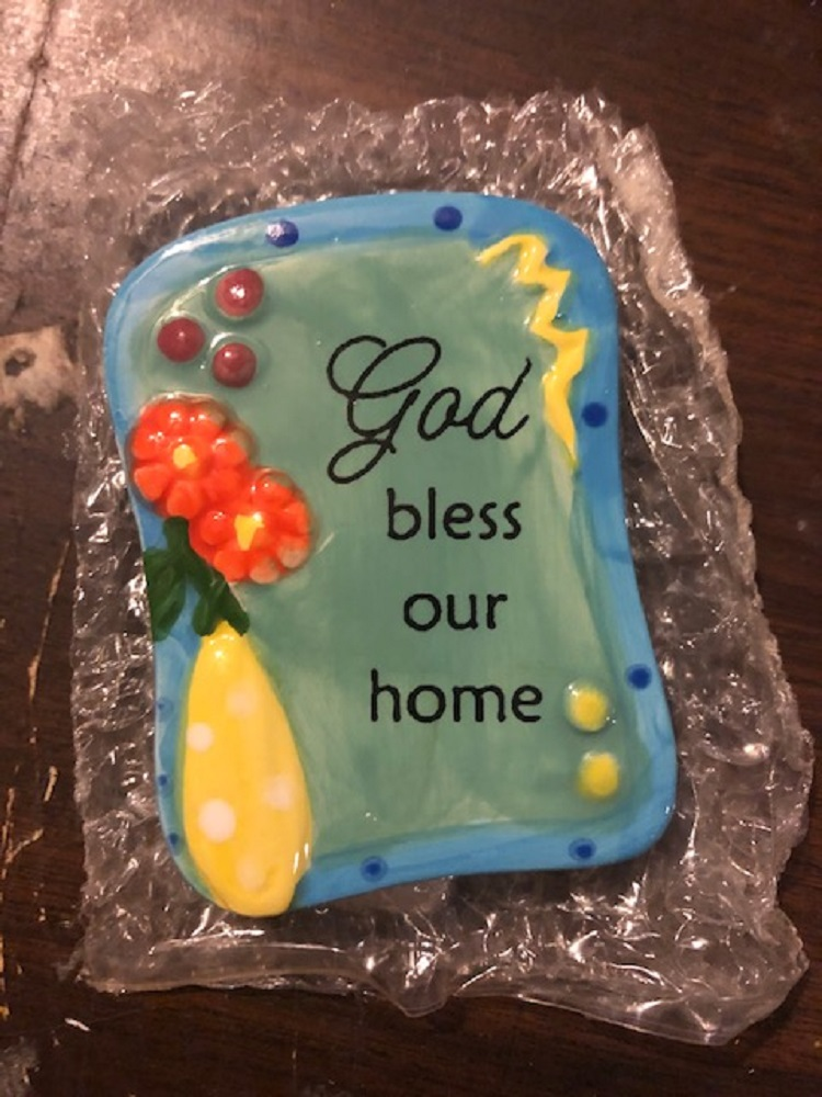 God Bless Our Home Magnet