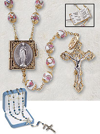 Mysteries Capped Bead Rosary
