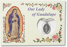Guadalupe medal on chain gift set
