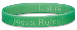 Jesus Rules Wristbands