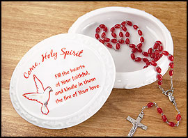 Confirmation Porcelain Rosary Case