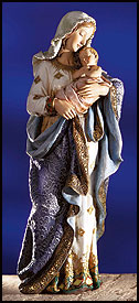 Large Madonna and Child Statue