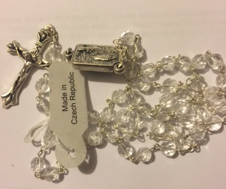 Deluxe Lourdes Water rosary (top WW)
