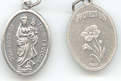 Our Lady of Prompt Succor medal