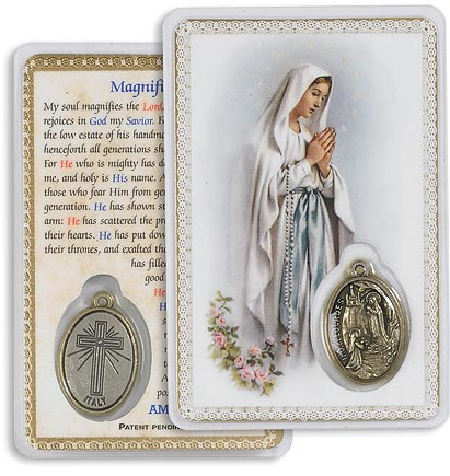 Our Lady of the Rosary Encased Medallion