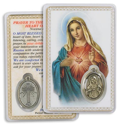 Immaculate Heart of Mary Carded Medallion