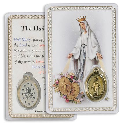 Our Lady of Grace Carded Medallion