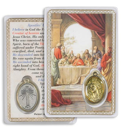 The Last Supper Carded Encased Medallion
