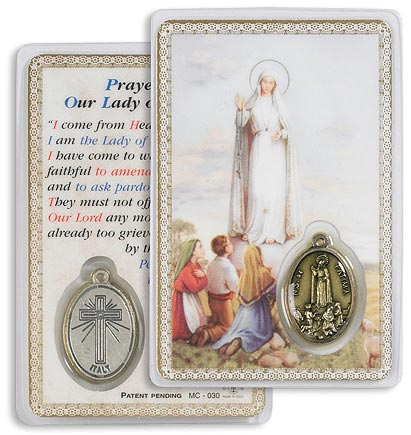 Our Lady of Fatima Carded Medallion