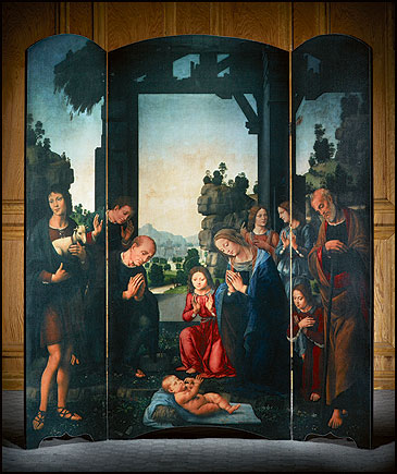 Large Church Nativity Triptych