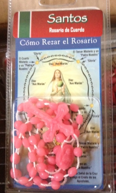 Rosary with Spanish Prayer pamphlet