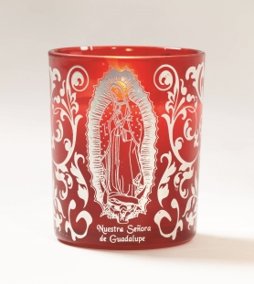 Bulk Guadalupe Candle 12 pack