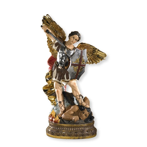 Large Color St. Michael Statue
