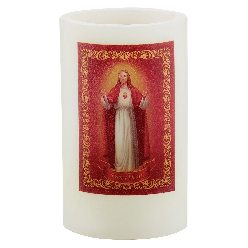 Sacred Heart of Jesus LED Candle