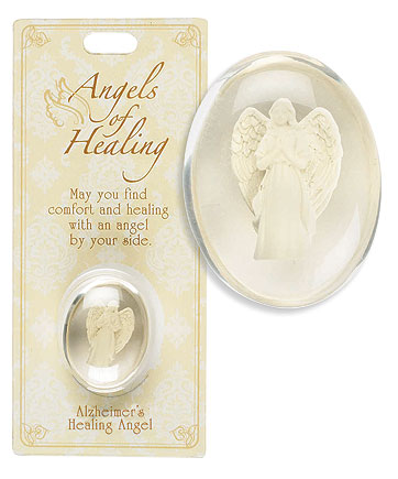 Alzheimer's Healing Angel Pocket Stone