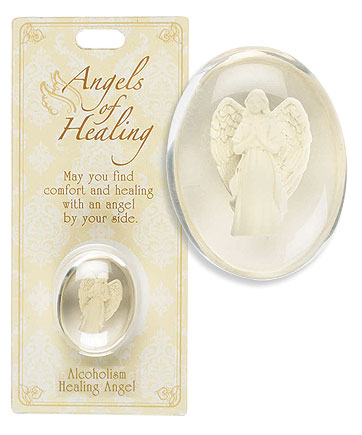 Alcoholism Healing Angel Pocket Stone