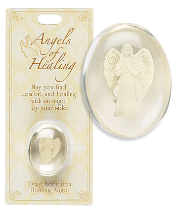 Drug Addiction Healing Angel Pocket Stone
