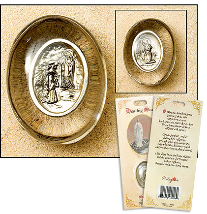 St. Bernadette, Our Lady of Lourdes Pocket Stone