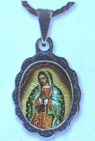Guadalupe Antique Medallion on Cord