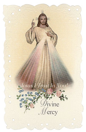 Divine Mercy Vintage Italian Replica Holy Card