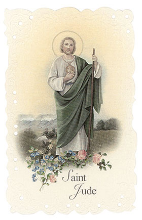 St. Jude  Vintage Replica holy card