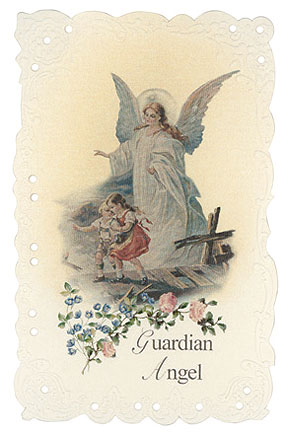 Guardian Angel Vintage Replica holy card